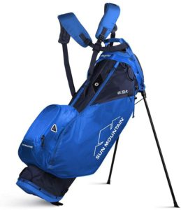 5 Best of the Lightest Golf Carry Bags: Sun Mountain 2020 2.5+ Golf Stand Bag Blue